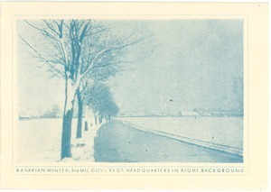 Bavarian Winter: 3rd Mil. Gov't Regt. Headquarters in right background