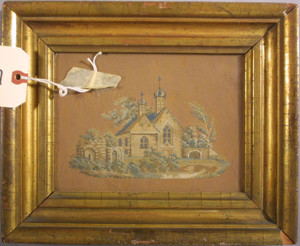 Needlework Picture on Bristol Board