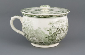 Small Chamber Pot with Lid