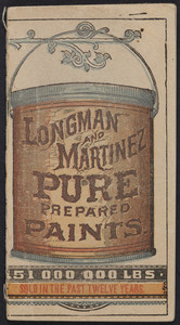 Memoranda, Longman and Martinez, pure prepared paints, New York, New York, undated