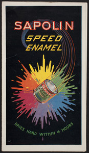 Sapolin Speed Enamel, paint, Sapolin Co. Inc., 229 East 42nd Street, New York, New York, undated