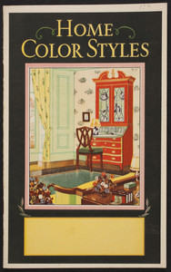 Home color styles, paint, Boston Varnish Company, Boston, Chicago, Montréal, 1931