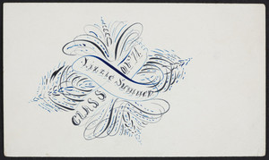 Card for Lizzie Sumner, class of '71, location unknown, undated