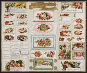 Samples from the Connecticut Steam Card Works, Hartford, Connecticut, 1886