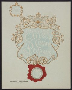 Elite cover papers, designed and executed by Griffith, Axtell & Cady Co., embossers, Holyoke, Mass., undated