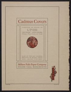 Cadmus Covers, Millers Falls Paper Company, Millers Falls, Mass., undated