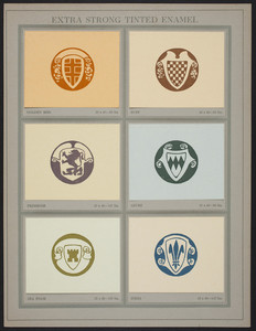 """Extra Strong Tinted Enamel sample page from """"Some examples of the work of American designers,"""" Dill & Collins Company, Philadelphia, New York, Boston, 1918"""