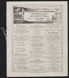 Brochure for the Technology architectural review, The Massachusetts Institute of Technology Architectural Society, Boston, Mass., 1888