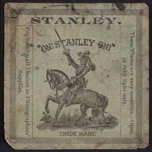 Label for the Stanley Dry Plate, Western Office, 84 Adams Street, Chicago, Illinois, undated
