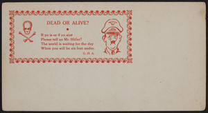 Dead or alive?, location unknown, 1939-1945