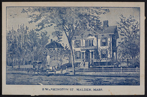 Sample card for 5 Washington Street, Malden, Mass., undated