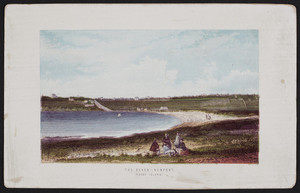 Beach, Newport, Rhode Island, Thomas Nelson & Sons, London, England, 1870s