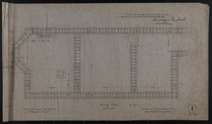 Piling plan, House for James Means, Esq., Bay State Road, Boston, Feby. 26, 1897