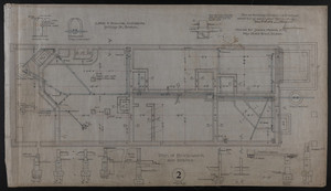 Plan of Brick-work and Drains, House for James Means, Esq., Bay State Road, Boston, Feby. 26, 1897