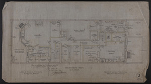 Basement Plan, House for James Means, Esq., Bay State Road, Boston, Feby. 26, 1897