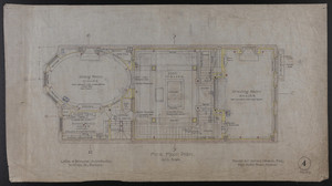 First Floor Plan, House for James Means, Esq., Bay State Road, Boston, Feby. 26, 1897