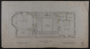 Second Floor Plan, House for James Means, Esq., Bay State Road, Boston, Feby. 26, 1897