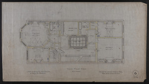 Third Floor Plan, House for James Means, Esq., Bay State Road, Boston, Feby. 26, 1897