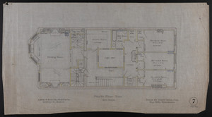 Fourth Floor Plan, House for James Means, Esq., Bay State Road, Boston, Feby. 26, 1897