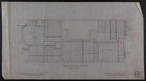 Basement Floor Frame, House for James Means, Esq., Bay State Road, Boston, Mch. 11, 1897