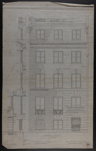 Elevation of Front, House for James Means, Esq., Bay State Road, Boston, Feby. 26, 1897