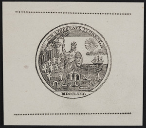 Sample seal of the American Academy of Arts & Sciences, location unknown, 1780