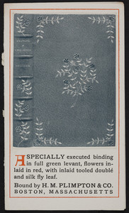 Brochure for H.H. Plimpton & Co., 653 Atlantic Avenue, Boston, Mass. and Norwood, Mass., undated