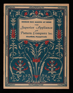 Hooked-rug making at home, Superior Appliance & Pattern Co. Inc., West 4th Avenue, Clearfield, Pennsylvania