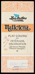 Mellotone Flat Colors for interior decoration, The Lowe Brothers Company, Dayton and Toronto, Ohio