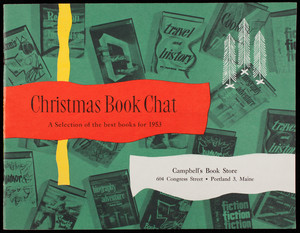 Christmas book chat, a selection of the best books for 1953, Campbell's Book Store, 604 Congress Street, Portland, Maine