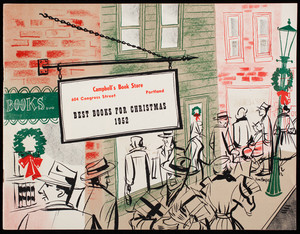 Best books for Christmas 1952, Campbell's Book Store, 604 Congress Street, Portland, Maine