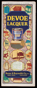 Devoe Lacquer, Devoe & Raynolds Co., Inc., New York and Chicago