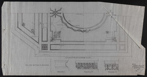 1/2 Plan of Reception Room Ceiling, Jan. 19, 1906