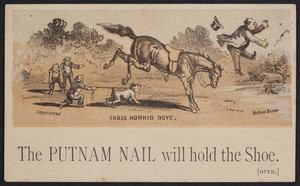 Trade card for the Putnam Nail Co., Boston, Mass., undated
