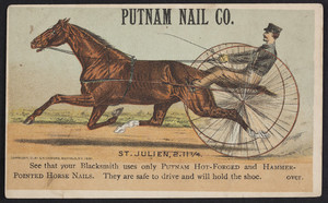 Trade card for the Putnam Nail Co., Boston, Mass., 1881