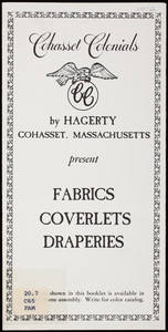 Cohasset Colonials present fabrics, coverlets, draperies, Hagerty, Cohasset, Mass.