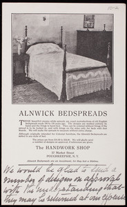 Alnwick Bedspreads, The Handwork Shop, 57 Market Street, Poughkeepsie, New York