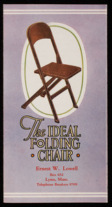 Ideal folding chair, Clarin Manufacturing Company, Chicago, Illinois