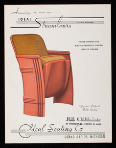Announcing the smart new Ideal Streamliners, Ideal Seating Co., Grand Rapids, Michigan