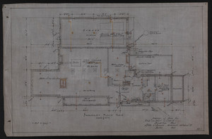 Basement Floor Plan, Drawings of House for Mrs. Talbot C. Chase, Brookline, Mass., Oct. 7, 1929