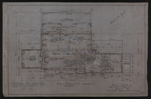 First Floor Plan, Drawings of House for Mrs. Talbot C. Chase, Brookline, Mass., Oct. 7, 1929