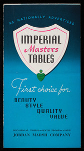 Imperial Masters Tables, Imperial Furniture Co., Grand Rapids, Michigan