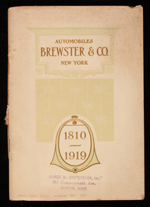 Automobiles, Brewster & Co., 1810-1919, Brewster & Co., New York, New York