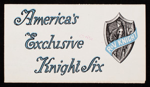 America's Exclusive Knights Six, Root & Van Dervoort Engineering Co., East Moline, Illinois