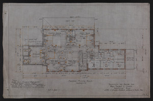 Second Floor Plan, Drawings of House for Mrs. Talbot C. Chase, Brookline, Mass., Oct. 7, 1929