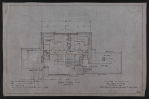Third Floor Plan, Drawings of House for Mrs. Talbot C. Chase, Brookline, Mass., Oct. 7, 1929