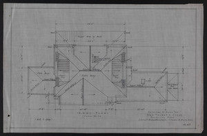 Roof Plan, Drawings of House for Mrs. Talbot C. Chase, Brookline, Mass., Oct. 7, 1929