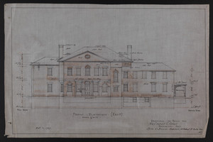 Front Elevation (East), Drawings of House for Mrs. Talbot C. Chase, Brookline, Mass., Oct. 7, 1929