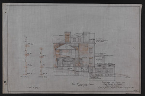End Elevation (North), Drawings of House for Mrs. Talbot C. Chase, Brookline, Mass., Oct. 7, 1929