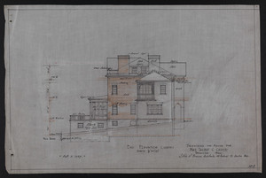 End Elevation (South), Drawings of House for Mrs. Talbot C. Chase, Brookline, Mass., Oct. 7, 1929